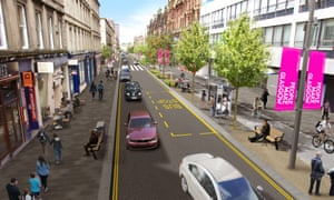 Glasgow planners propose increasing pavement space and trees along the city's famous Sauchiehall Street, as they green the city centre