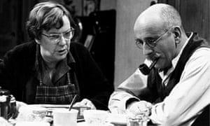 Warren Mitchell with Dandy Nichols in Till Death Us Do Part, 1974. Photograph: Allstar/BBC