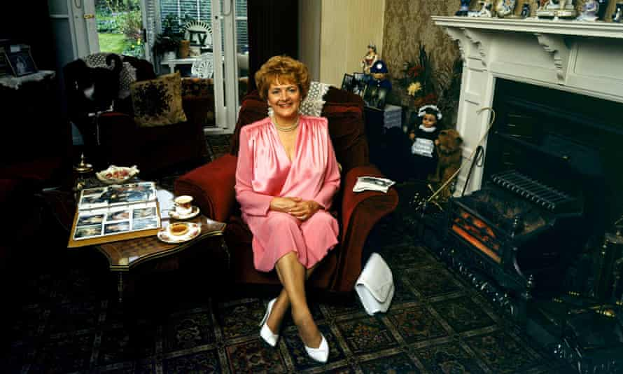 Cynthia Payne at home in Ambleside Avenue, Streatham, London, where she began her 'kinky parties for kinky people'. Photograph: Rex Shutterstock