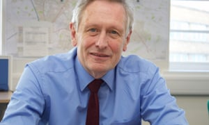 Leicester's first elected mayor and cycling campaigner Sir Peter Soulsby.