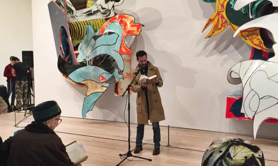 Justin Torres reading Moby Dick at the Whitney Museum.