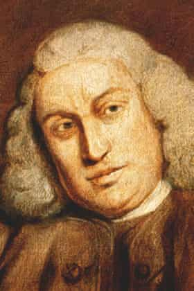 Detail of a portrait of Samuel Johnson