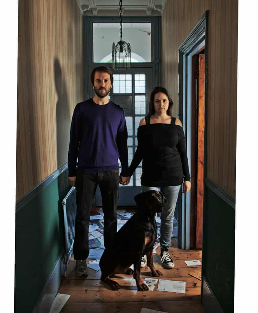 Photograph of Erica Buist and partner and dog