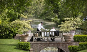 Festival-goers picnic in the Glyndebourne grounds during the main summer season.