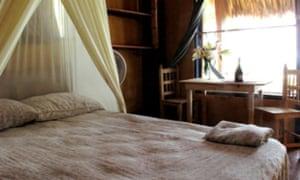 A bedroom at Cabañas Balamjuyuc, Mazunte, Oaxaca, Mexico.