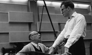 Craft, right, with Igor Stravinsky.