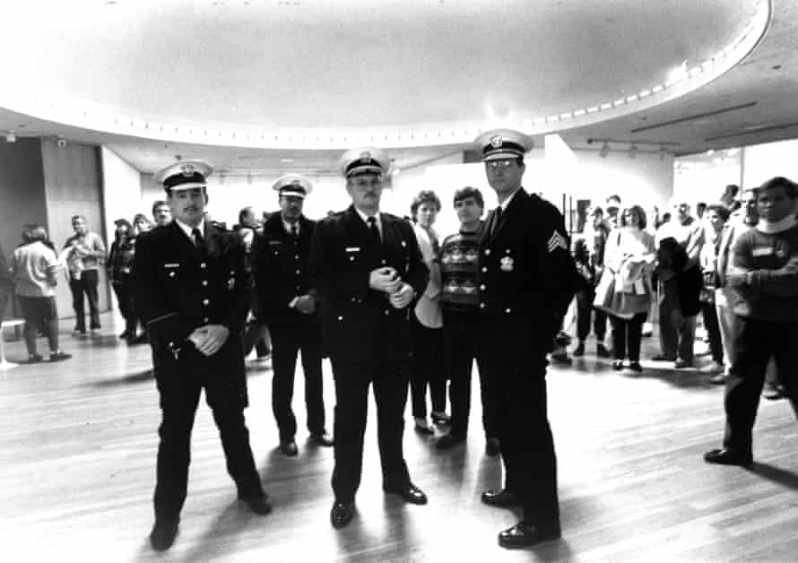 Police officers in CAC.