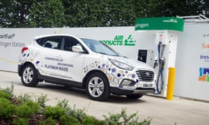 Fill her up: the ix35 refuels at a special hydrogen garage. There are currently only three in the UK