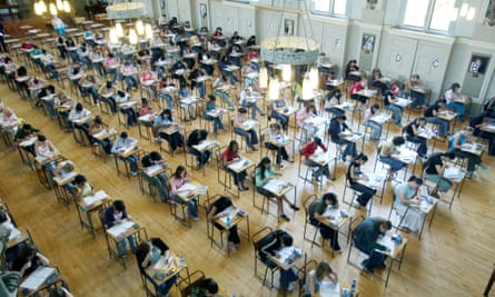 Pupils at King Edward VI School Handsworth start their GCSE examination in large hall
