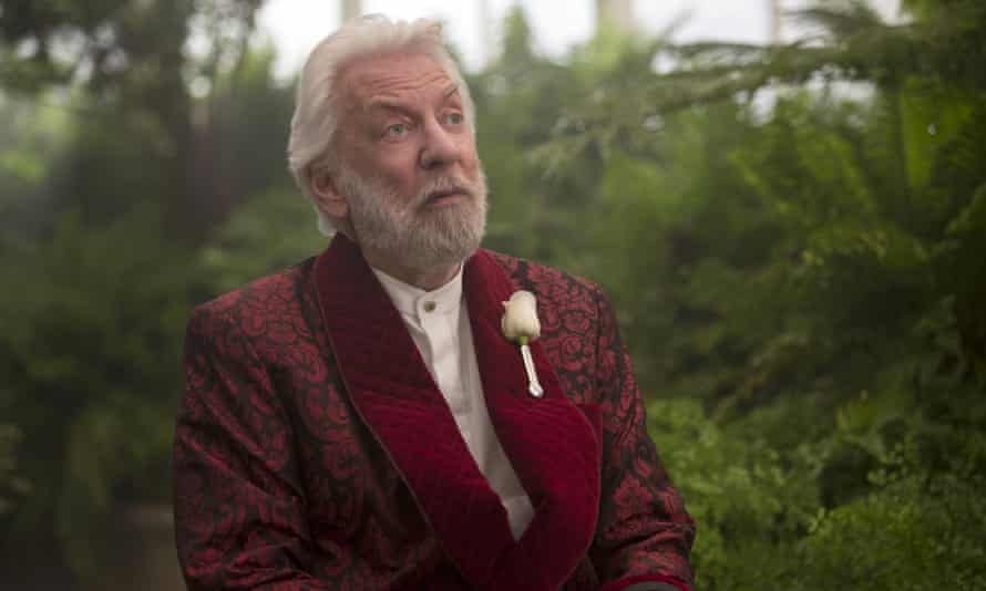 Hungry for no more ... Donald Sutherland as the evil President Snow in the final Hunger Games chapter.