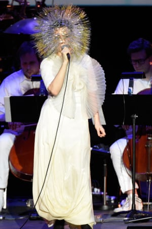 Björk performs in New York, March 2015.