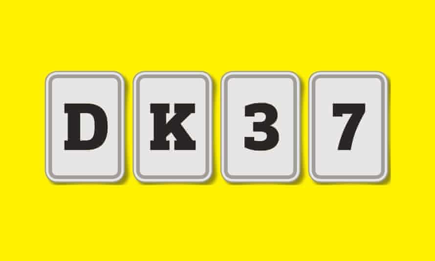 DK37 - 4 cards for intelligence test