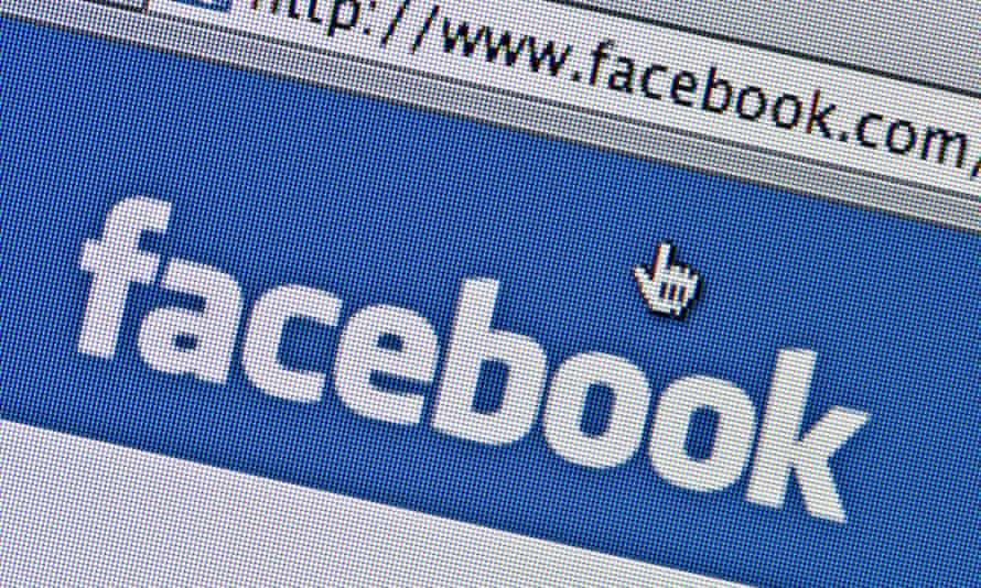 The Facebook logo as seen on its website.