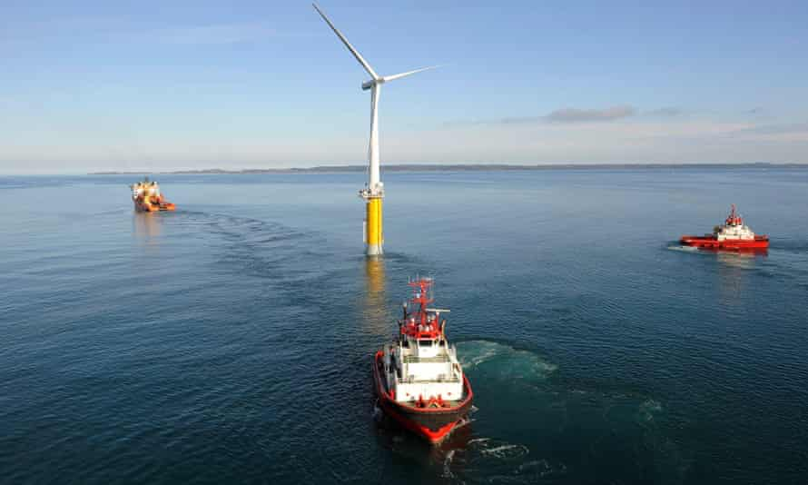 Construction on the UK's first floating windfarm is to begin in 2016