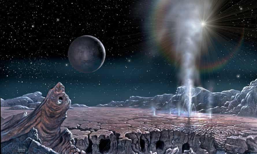 Geyser Field on Pluto, 2015, by David A Hardy