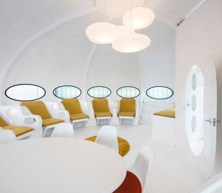 Inside the Futuro house.