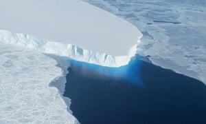 The Thwaites glacier in western Antarctica.