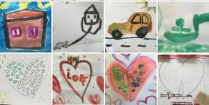 refugee children drawings