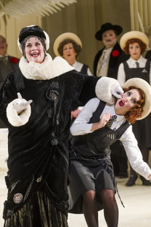 Yvonne Howard as Katisha and Mary Bevan as Yum-Yum in English National Opera's current production.