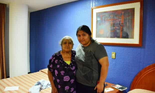 Norma Ramirez with her grandmother in Mexico
