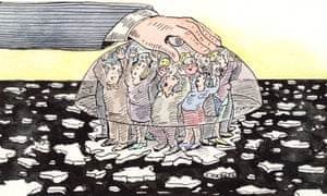 Andrzej Krauze Paris climate change illustration