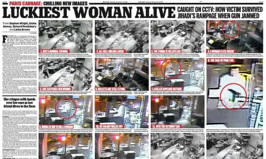 The Daily Mail report on the Paris cafe attack