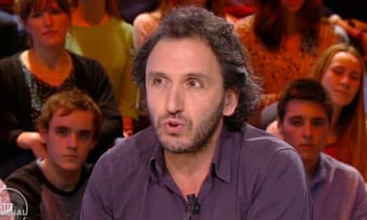 Freelance journalist Djaffer Ait Aoudia on the Canal+ show Le Petit Journal on Monday night