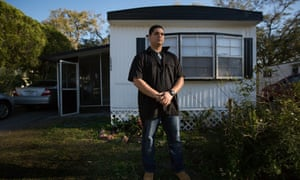 David Santana and his family recently moved into a more upmarket Orlando trailer park after giving up on their dream of ever owning their own bricks and mortar home.