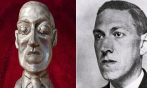 'Avowed racist' …the former World Fantasy award statuette, AKA the Howard, which represented HP Lovecraft (right)