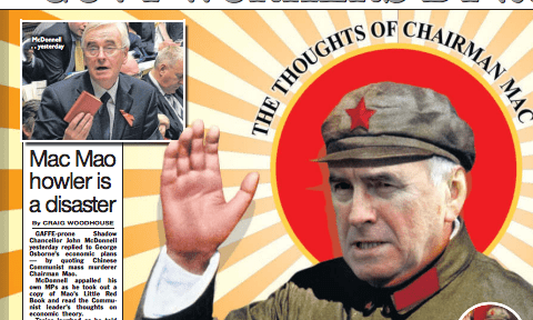 The Sun has fun at John McDonnell's expense.