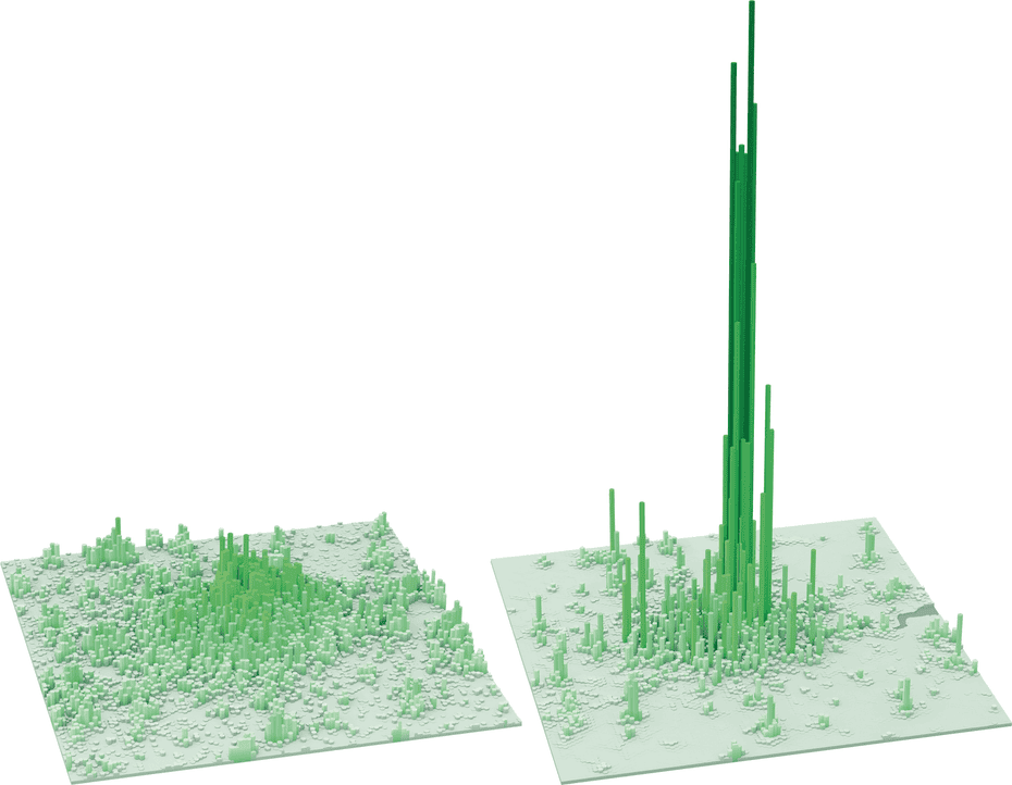Residential and employment densities are highly divergent in London, fuelling the need for intense commuting patterns.