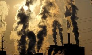 Smoke billows from chimneys in China