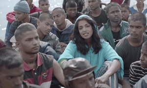 MIA in a scene from her video for Borders.