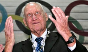João Havelange receiving a medal from the Paraguayan Olympic committee in 2009. Photograph: Jorge Adorno/Reuters