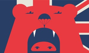 Noma Bar illustration for Russia joining Europe's anti-Isis effort