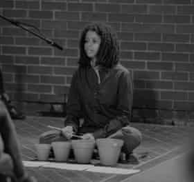 Rosie Bergonzi performing John Cage's Child of Tree, sound Unbound festival