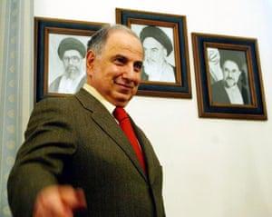 Ahmad Chalabi in Tehran in December 2003.