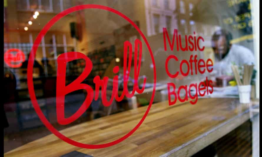Brill, an independent music and coffee shop in Exmouth market, London