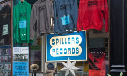 Spillers record shop, Cardiff.