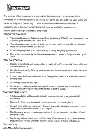 Michelin statement part 1