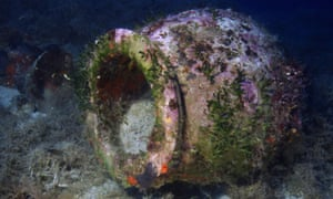 A large Hellenistic storage container found in a shipwreck.
