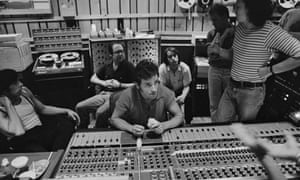 Bruce Springsteen … in the studio working on The River with the E Street Band