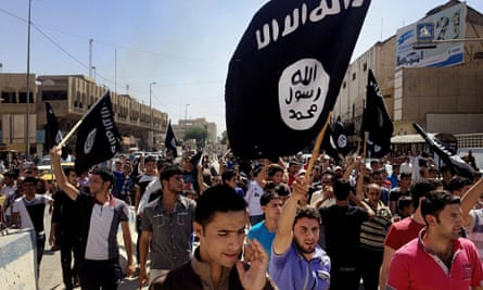 Isis supporters in Mosul