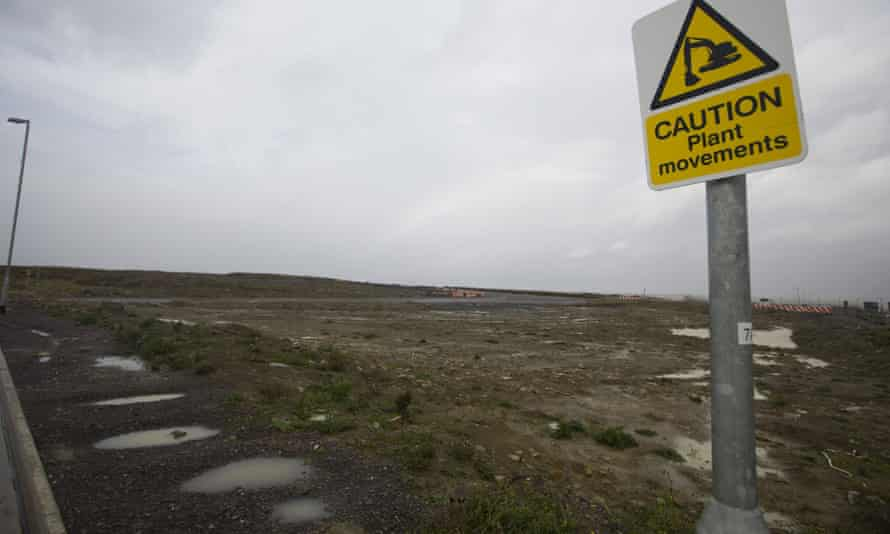 Development land where two nuclear reactors are set to be built at Hinkley Point C