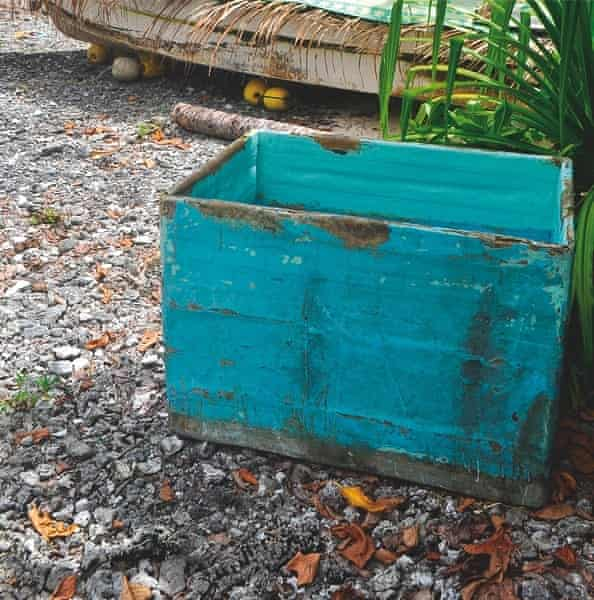 the cooler box in which missing fisherman Salvador Alvarenga hid from the sun