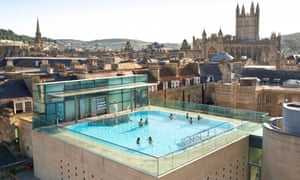 Swimming on the roof tops: a view of Thermae Bath Spa.