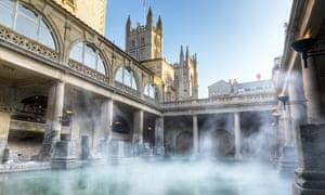 Bubbling up: the city's stunning Roman baths.