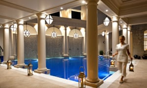 Pure bliss: a mineral-rich pool at the Gainsborough spa.