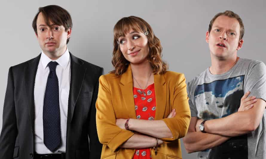 The lads with Isy Suttie as Dobby.