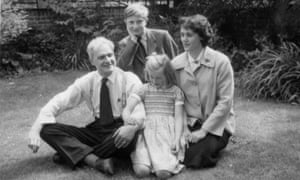 Family affair: (from left) Stephen Spender with Matthew, Lizzie and Natasha in 1959.